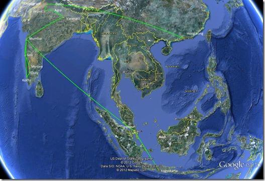 Hong Kong bis Yogyakarta