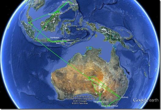 Surabaya bis Sydney