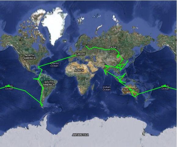 Ganze Weltreise